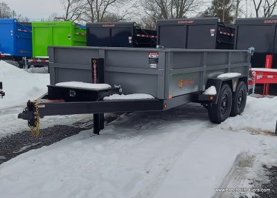 BWISE HTONE GRAY TRAILER FOR SALE, BLACK MOD WHEELES, ALUMINUM RAMPS