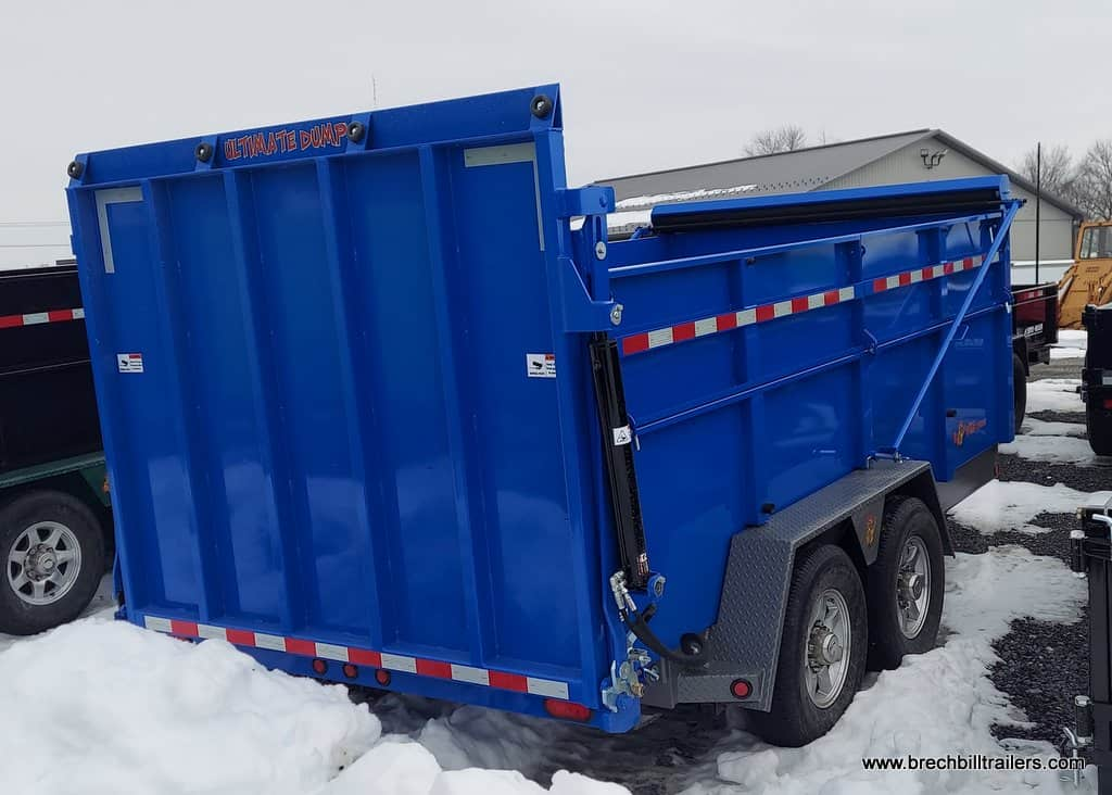 ULTIMATE DUMP TRAILER BLUE WITH HTONE GRAY FOR SALE