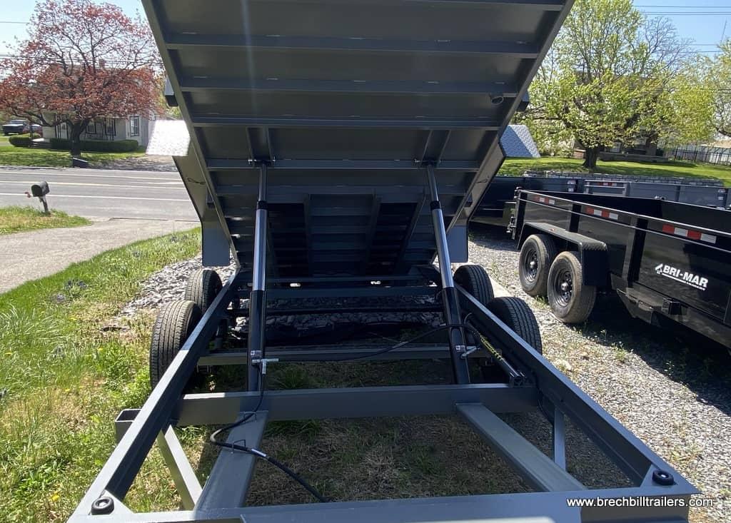 STEEL GRAY DUMP TRAILER FOR SALE COMBO GATE