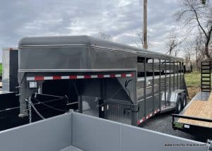 STEEL STOCK LIVESTOCK TRAILER GRAY NEW FOR SALE