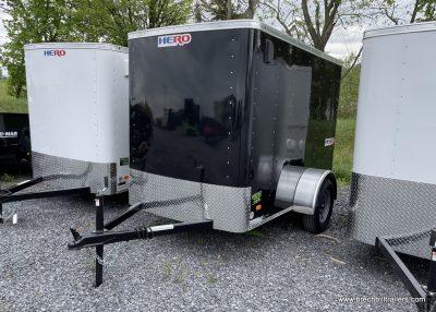 BLACK BOX ENCLOSED CARGO TRAILER FOR SALE STEEL