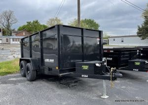 BLACK STEEL HIGH SIDE DUMP TRAILER
