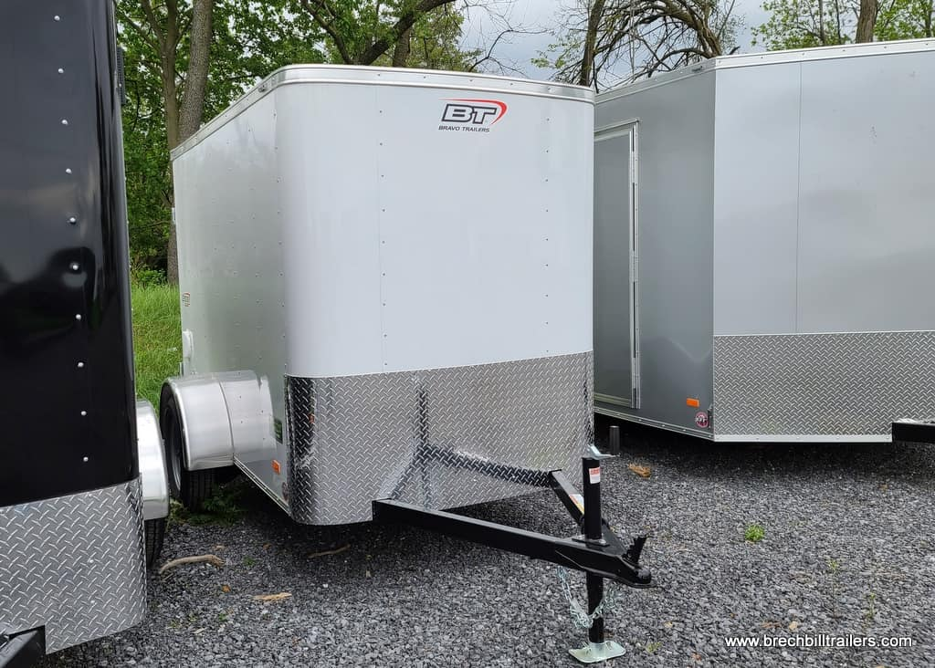 WHITE SMALL ENCLOSED TRAILER SWING DOOR SIDE DOOR EXTRA HEIGHT SILVER MOD WHEELS