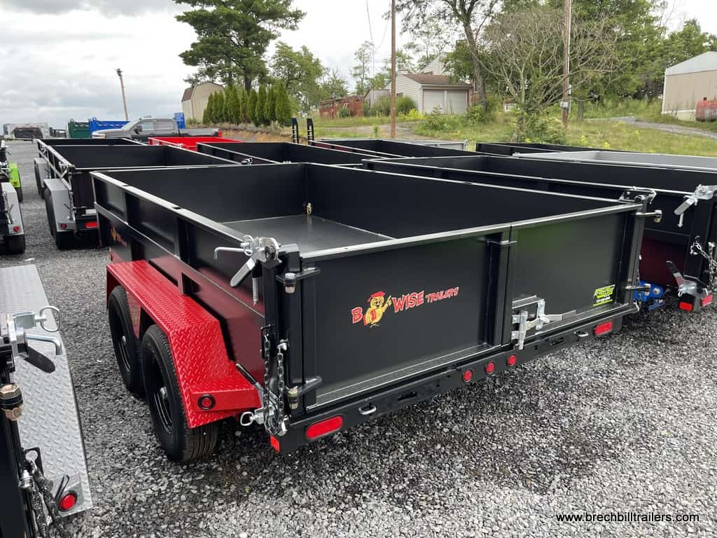 RED AND BLACK DUMP TRAILERS