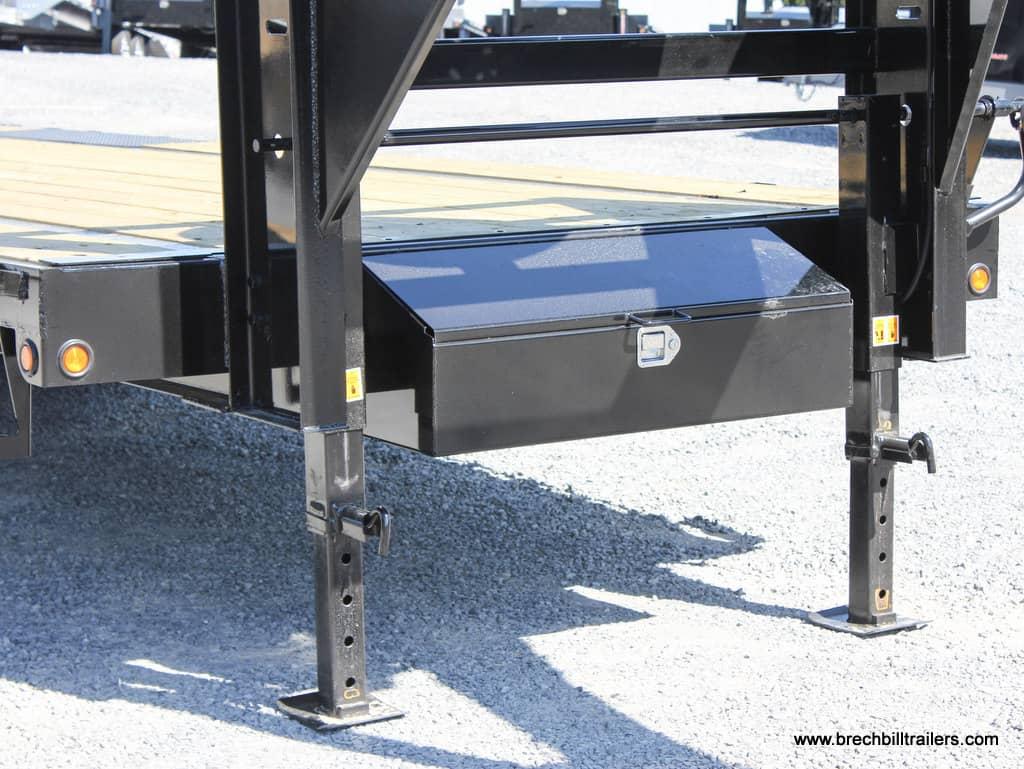 25' Big Tex Gooseneck Equipment Deck-Over Steel Trailer
