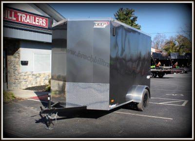 black mod wheels steel enclosed cargo hauler trailer