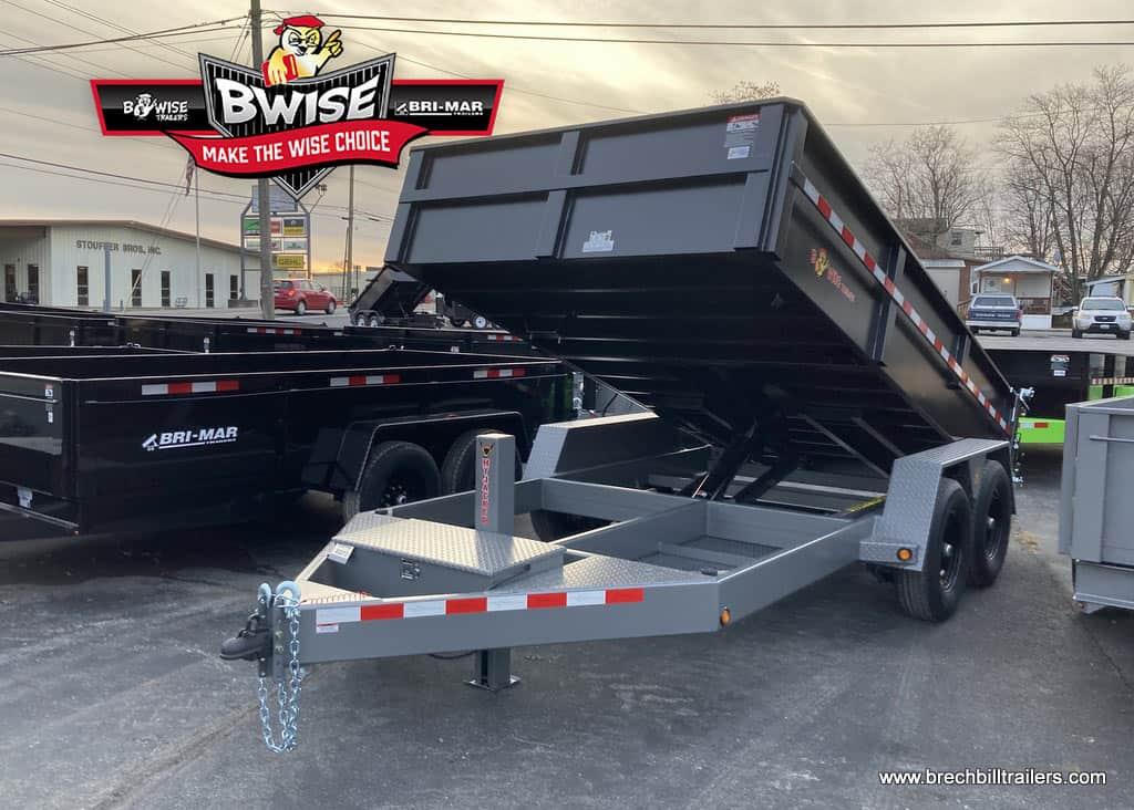 Bwise-Dump-Trailer-82x14x15.4K-DLP14-15-HTONE-BLACK-WITH-HTONE-GRAY-BLACK-MOD-WHEELS-STEEL