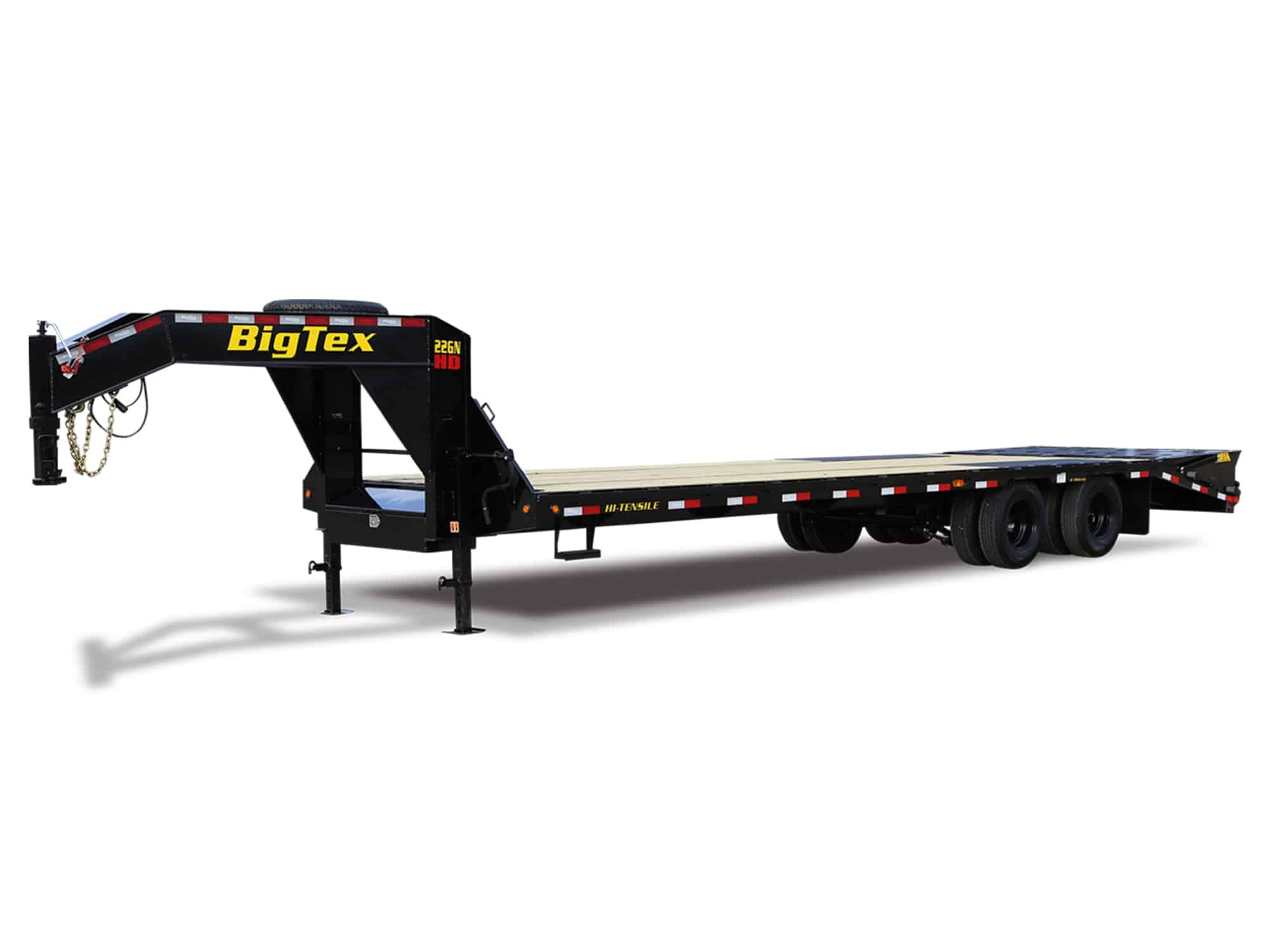 BLACK STEEL BIG TEX GOOSENECK EQUIPMENT TRAILER