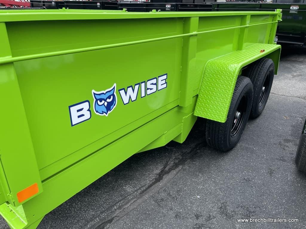 NEW BWISE STEEL DUMP TRAILER LIME GREEN