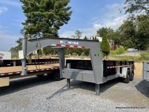 BWISE STEEL DUMP TRAILER GOOSENECK HYDRAULIC