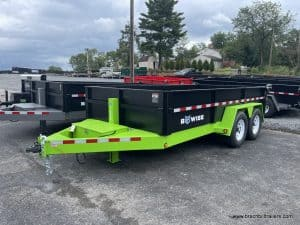 BWISE HTONE BLACK AND LIME GREED HEAVY DUTY BWISE DUMPING TRAILER