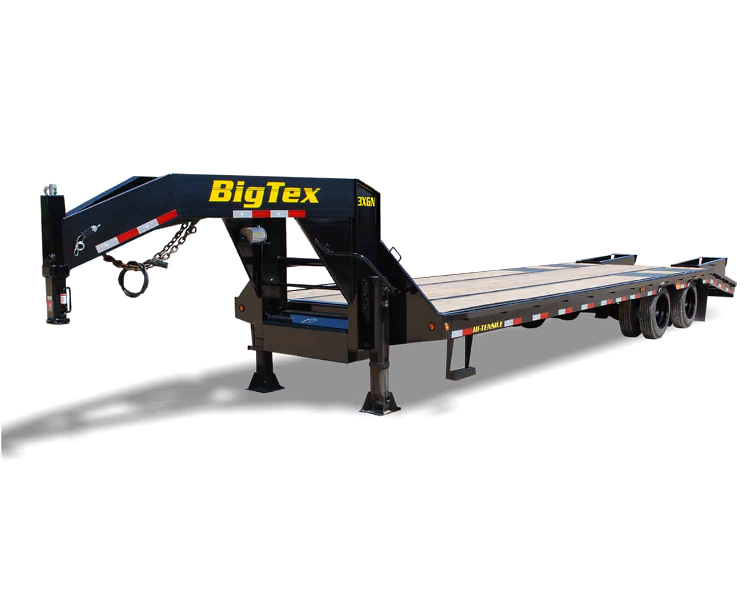 BLACK DECK OVER SUPER HEAVY DUTY EQUIPMENT TRAILER WITH DOVE TAIL