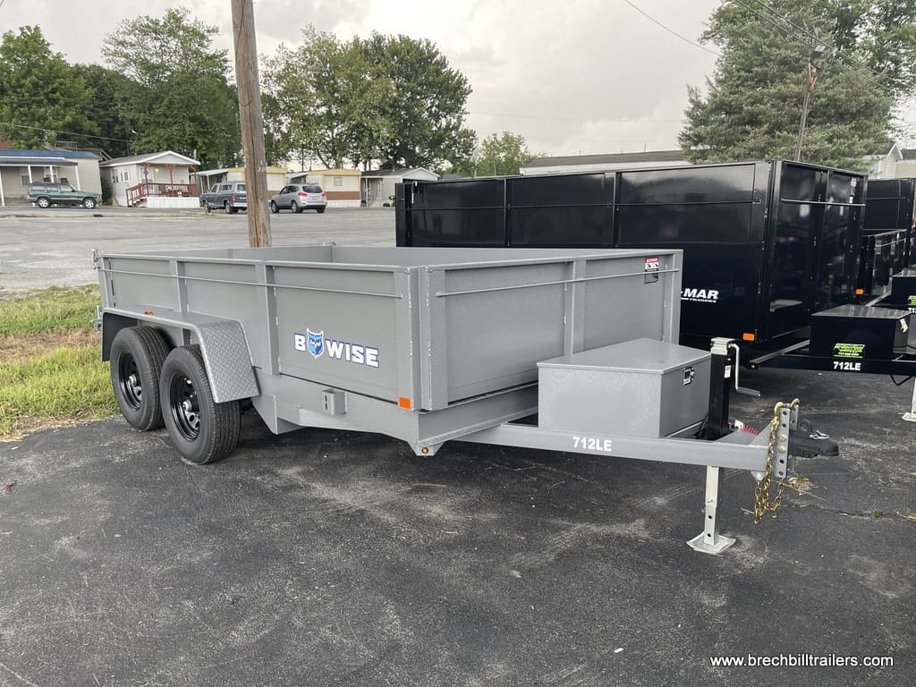 STEEL RAMPS WITH COMBO GATE HTONE GRAY DUMP TRAILER