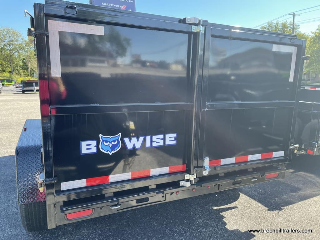 BLACK LOW PRO DUMP TRAILER WITH HIGH SIDES AND BARN DOORS