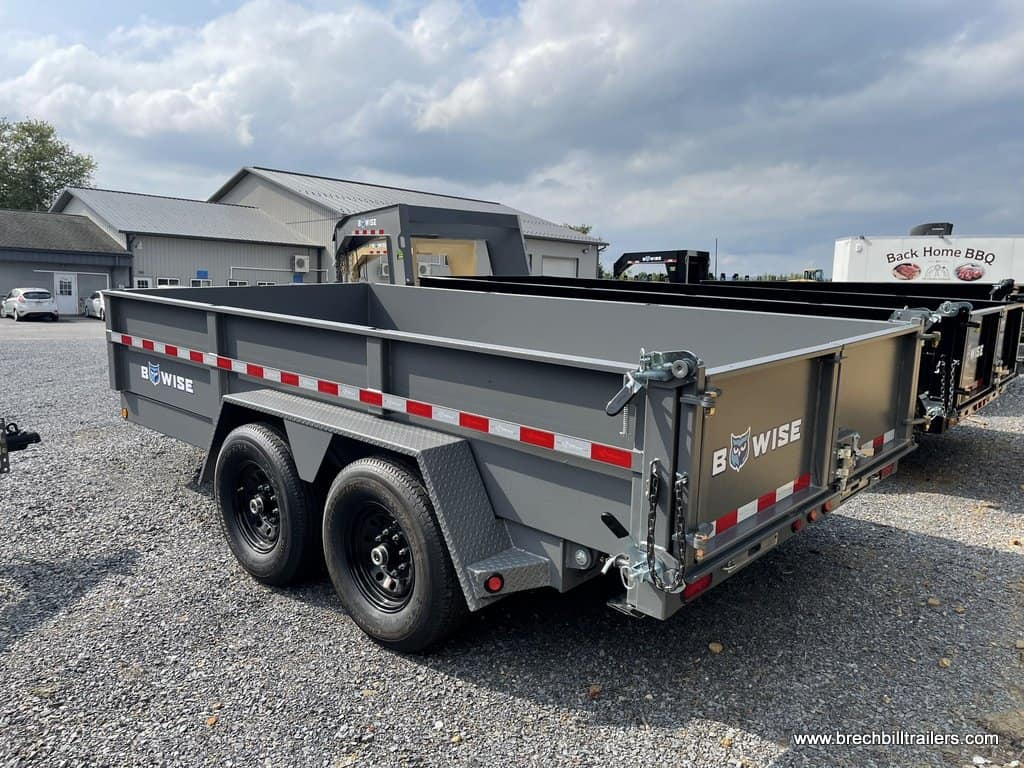 DUMPER TRAILER WITH ALUMINUM RAMPS AND 3 WAY COMBO GATE