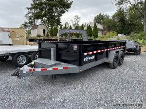 HEAVY DUTY STEEL DUMP TRAILER WITH COMBO GATE AND D-RINGS