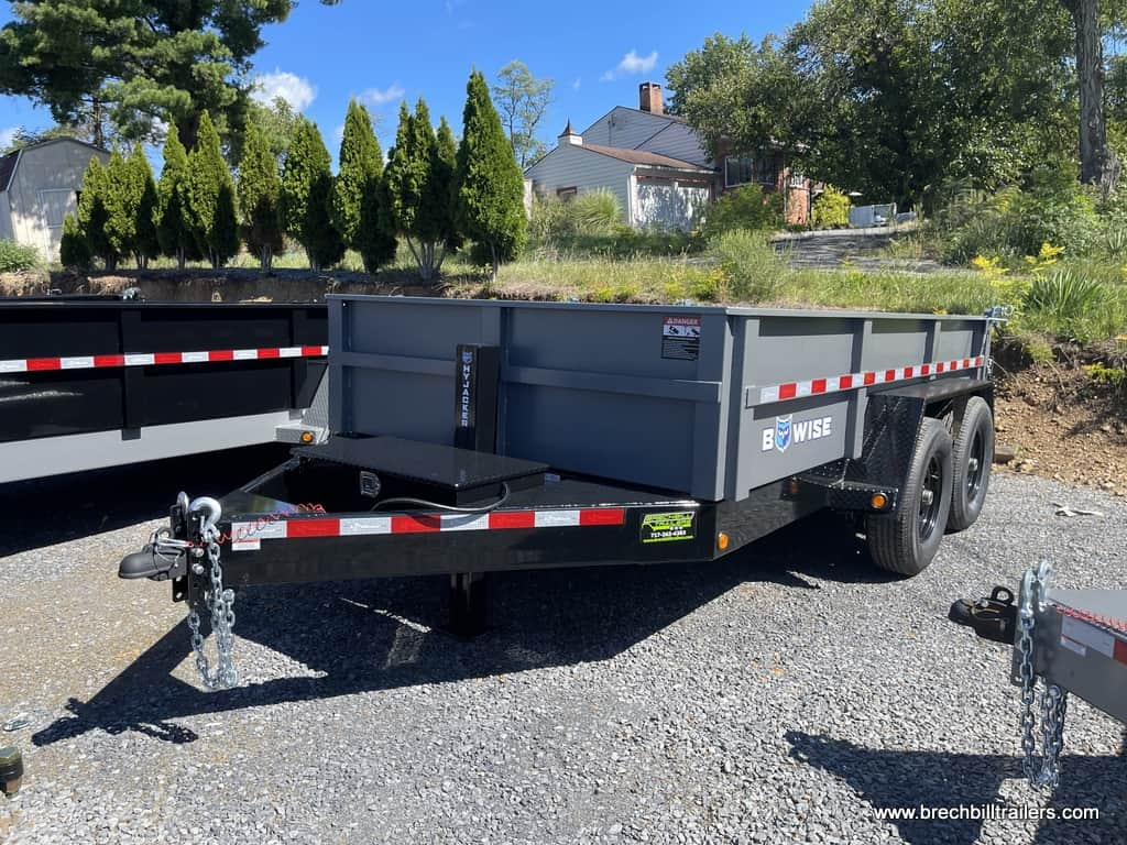 HEAVY DUTY STEEL DUMP TRAILER WITH COMBO GATE RAMPS AND D-RINGS