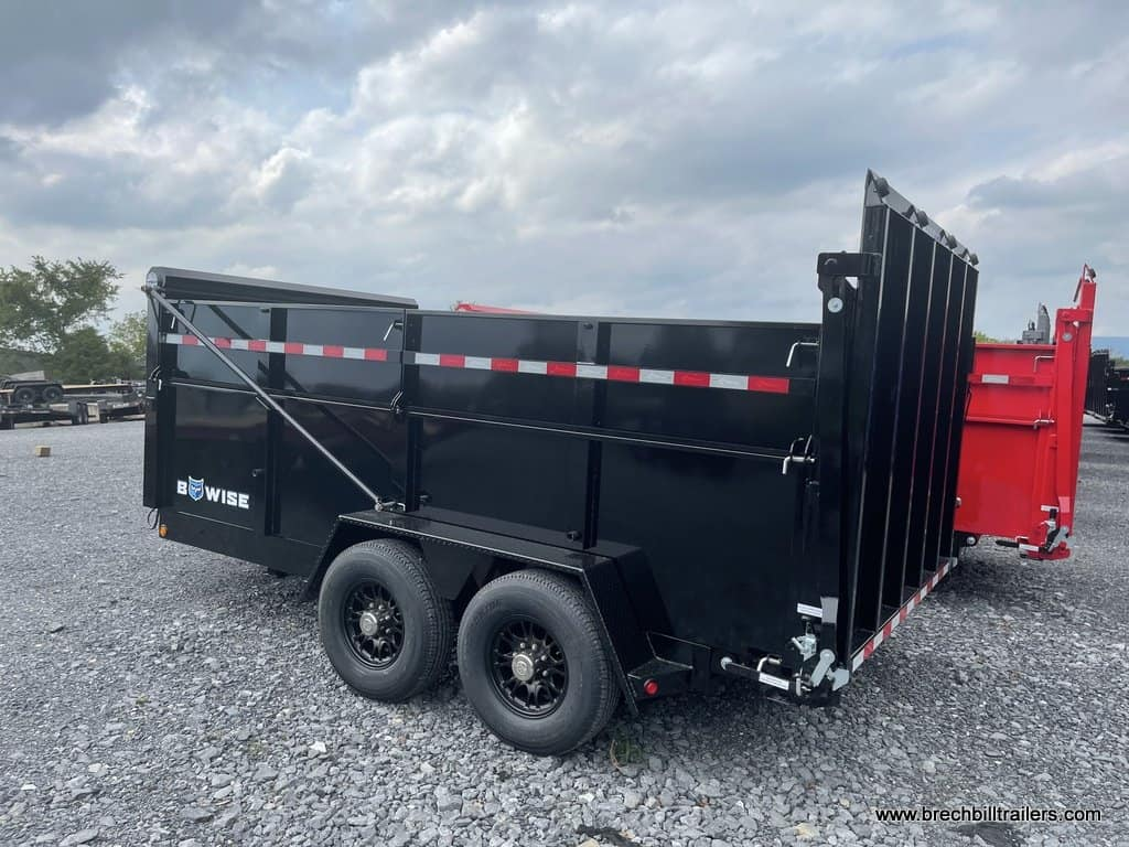 ALL BLACK STEEL DUMP TRAILER WITH HIGH SIDES