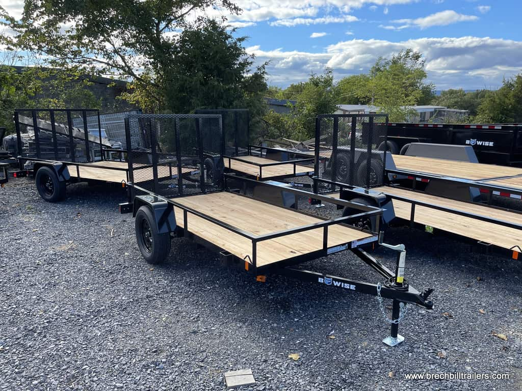 Small Bwise Utility Landscape Trailer with Wooden Deck and Landscape Mesh Gate Ramp
