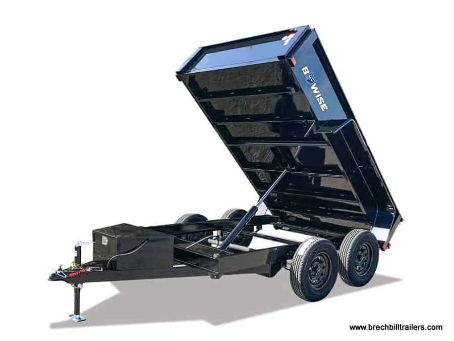 Black Bwise Small Dump Trailer Available to Order