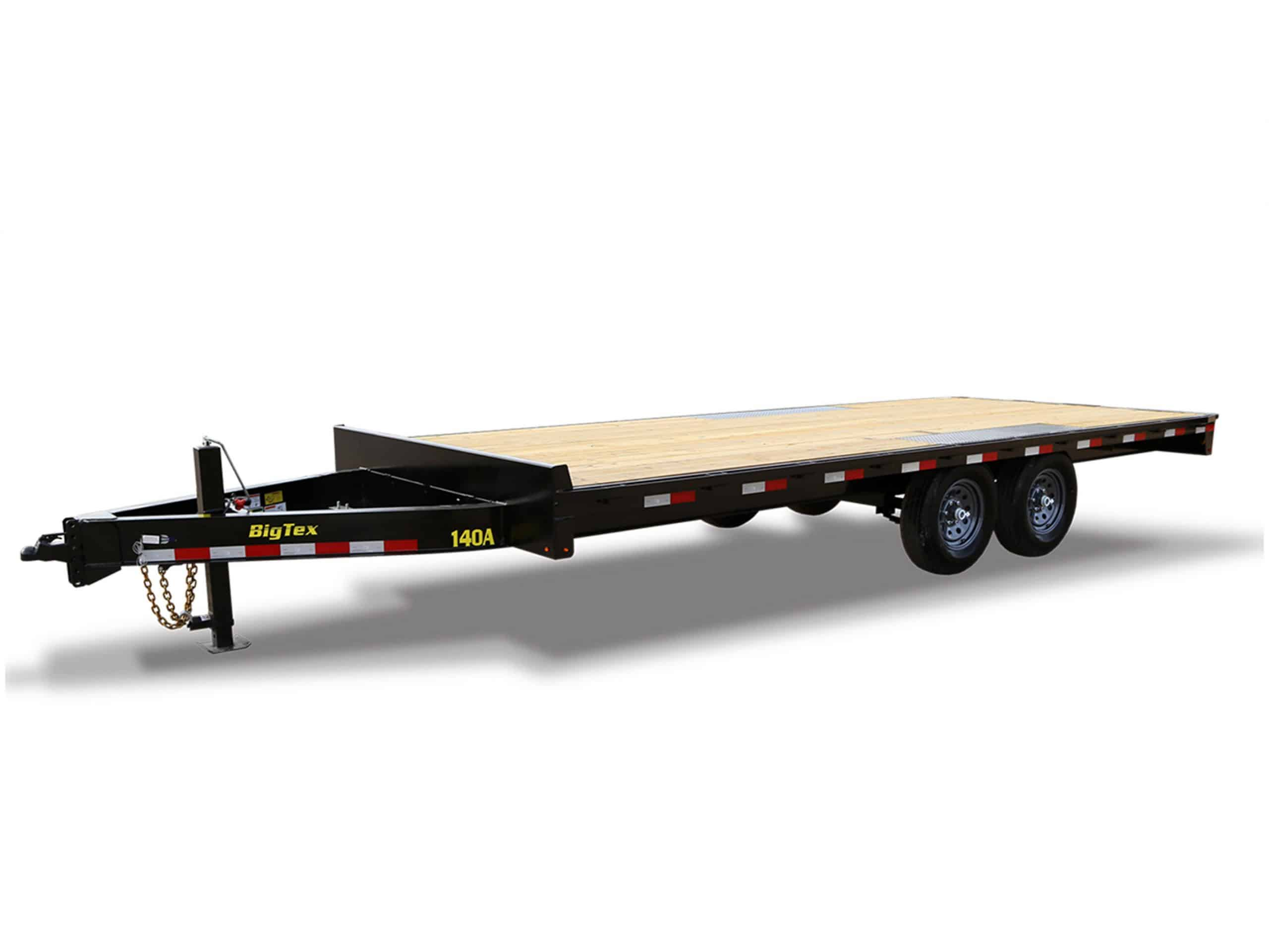 Black Over the Wheels Equipment hauler trailer