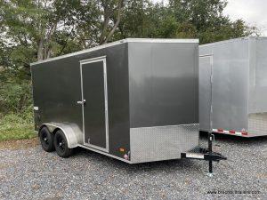 GRAY WOOD BOX ENCLOSED TRAILER RAMP DOOR