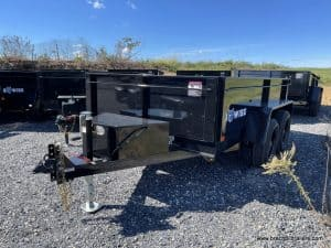 BWISE STEEL BLACK LE LOW PRO DUMP TRAILER FOR SALE WITH COMBO GATE AND D-RINGS