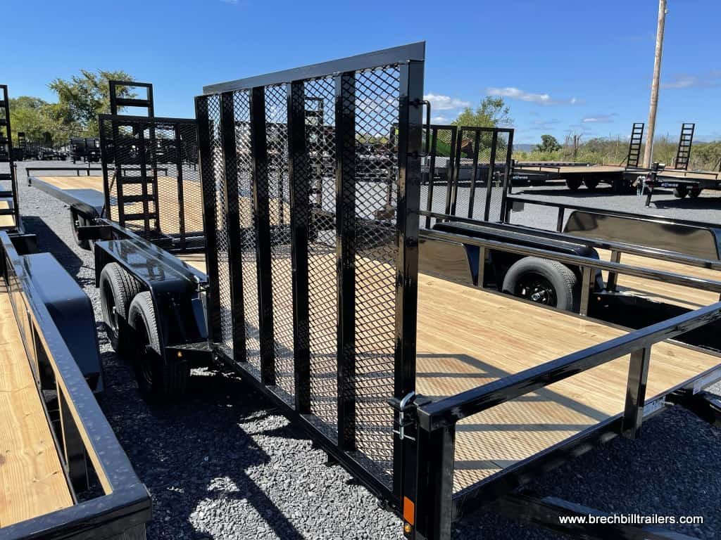 BWISE LANDSCAPE UTILITY TRAILER FOR SALE WITH FOLD DOWN SIDE GATE RAMP