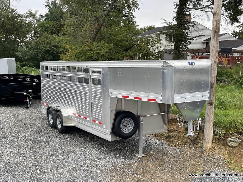 EBY ALUMINUM CATTEL HORSE LIVE STOCK FARM TRAILER